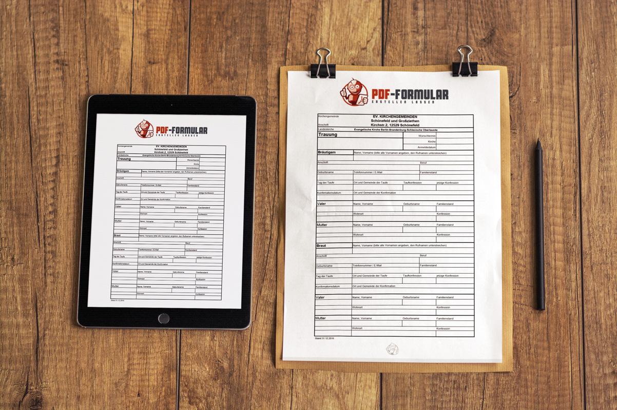 PDF Formular erstellen lassen - Ihr Service aus Berlin - Ein Beispiel